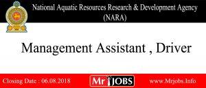 National Aquatic Resources Research & Development Agency (NARA) Vacancy