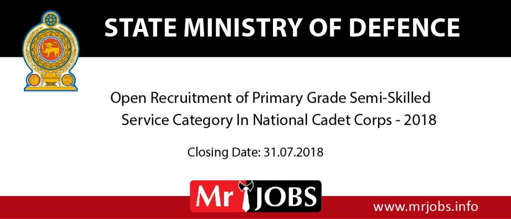 State ministry of defence Vacancy