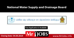 National Water Supply and Drainage Board Vacancies Archives -