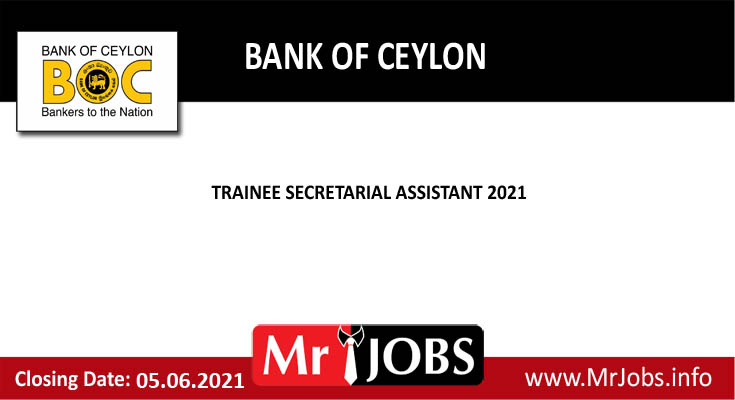 Bank of Ceylon Vacancies