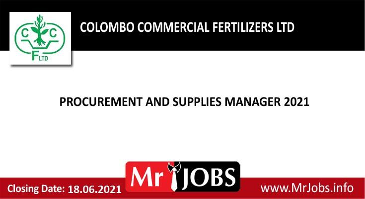 Colombo Commercial Fertilizers Ltd Vacancies
